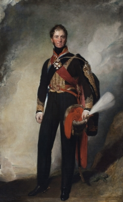 1st MARQUESS OF Anglesey, Wales, HENRY WILLIAM PAGET, KG (1768-1854) by Sir Thomas Lawrence, PRA (1769-1830), painting in the Music Room at Plas Newydd, Anglesey, Wales